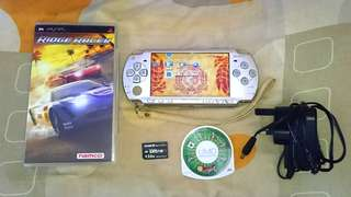 PSP 2006 Model Silver Color: Including Memory Stick Duo 2GB ( 4 ISO GAMES!!!),  2 Original UMD GAMES!!! & CHARGER!!!. 100% WORKING CONSOLE!!!. 100% NO PROBLEM!!!. 70% CONDITION OF PSP!!!. ** PLEASE REPLY IN ENGLISH!!! 🤗 **