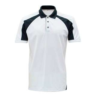 Microfibre polo (unisex) shirt sort