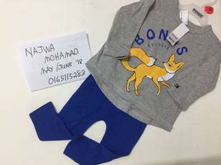 Bonds Bnwt tshirt with legging