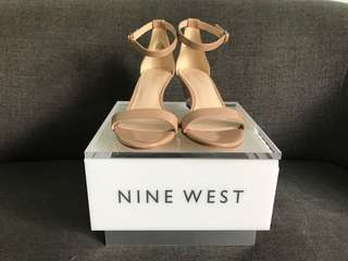 Nine West nude synthetic heels