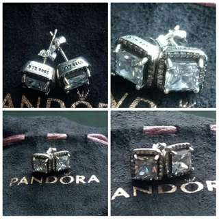 Brand New Authentic Pandora Earrings - with pouch only