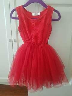 Red Britt Tutu Dress Size 2-3