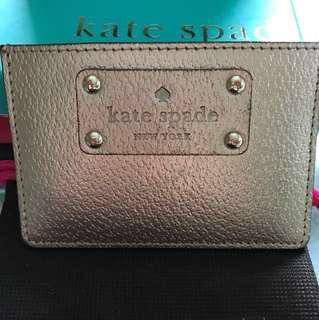 Kate Spade Rose Gold Card Holder