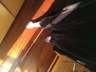 🚚 古著咖啡絲絨長裙