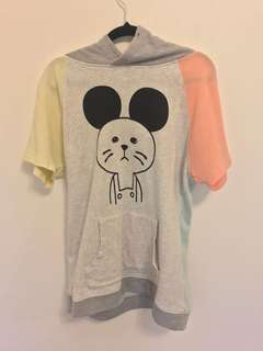 Kawaii Short Sleeve Jumper with Hood