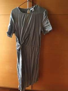 🚚 扭結淡藍洋裝 #女裝半價拉
