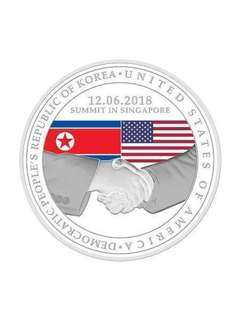 Trump Kim Summit Coin 2018 Silver & Nickel