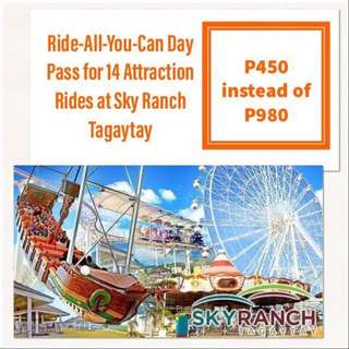Sky Ranch Tagaytay Ride-All-You-Can Pass for 14 Rides