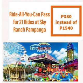 Sky Ranch Pampanga Ride-All-You-Can Pass for 21 Rides