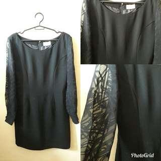 Classy formal black dress