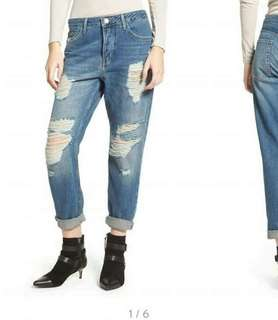 Bf loose tattered pants for ladies 💰480  Size 27-34 Not stretch *cs