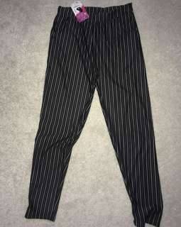 Pinstriped pants
