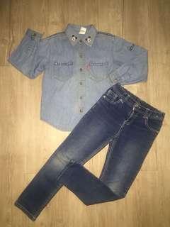 Girl set size 5-6y