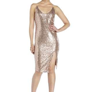 LUSH rose sequins dress Medium