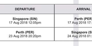 🚚 1 return Scoot Economy(Flybageat) AirTicket to Perth