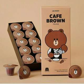 Line Friends Cafe Brown Nespresso Compatible