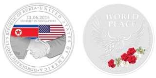 Trump Kim Summit Silver Coin