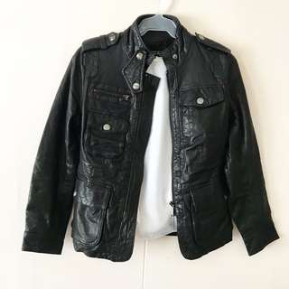 Genuine Black Motorcycle Leather Jacket #winllaollao!