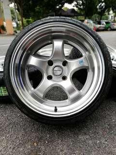 Work miestar s1-r 17 inch sports rim persona tyre baru *berikan aku sepotrim work miestar satu set akan ku goncangkan dunia!!!!*