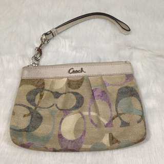 Authentic Coach Wallet Wristlet