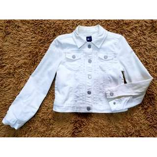 BLC Gap Overrun Denim Jacket White Small 4-6T