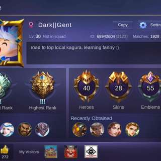 Mobile Legends Account (Name Change Card included)