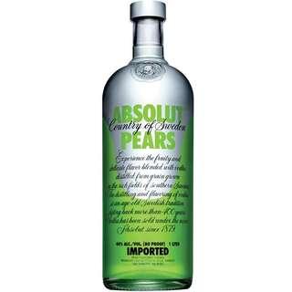 Absolut pears 1L vodka