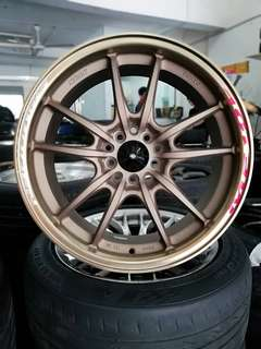 Mugen mf10 17 inch sports rim civic fd fb fc accord *rim baru jual morah morah*