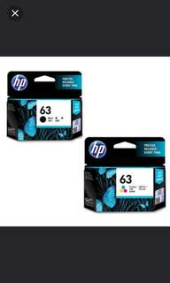 Buy in used hp  61 & 62 & 63 original cartridge