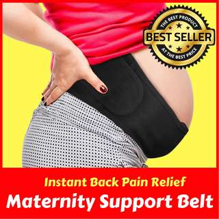 Maternity Belt Pregnancy Belly Band for Back, Pelvic, Hip, Abdomen, Sciatica Pain Relief 2nd-3rd Trimester, Adjustable Brace, Comfortable Girdle for Running, Walking, Sitting [Fast Delivery]