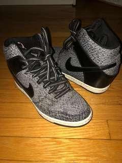 Nike Sneaker Wedge, Black and Grey, Size 7.5 Women's