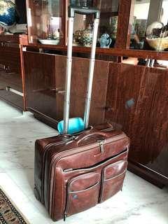 Cabin leather Italian trolley