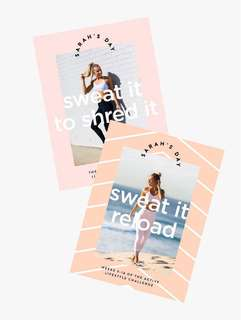 Sarah's Day Sweat it to shred it + Sweat it reload (BUNDLE)