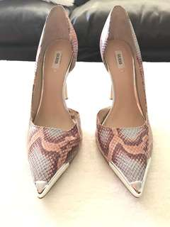 Guess snake multicoloured pumps, size 9