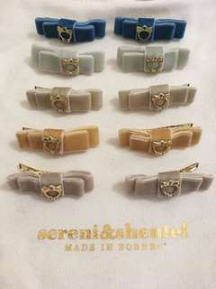 #July100 Sereni & Shentel Children Velvet Bow Clips