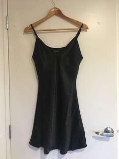 minkpink black slip dress