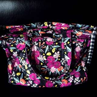 Ju-Ju-Be Super Be (Black & Bloom) & Starlet (Pinky Swear) Diaper Bags Bundle