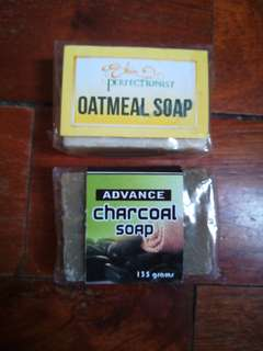 Oatmeal and charcoal Soap