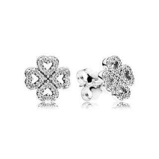 Authentic Pandora Earrings (cloverleaf)