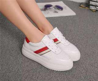 White and Black Platform Sneakers size 35-39