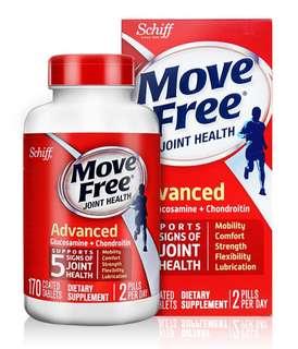 Schiff Move Free Advanced 特效葡萄糖胺軟骨素170粒