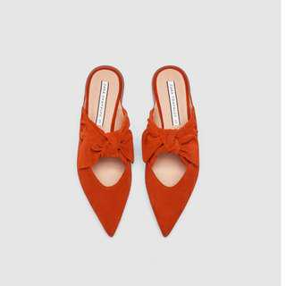 Zara Leather Mules US 7