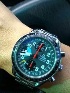 Omega Speedmaster Day date Michael Schumacher Chronograph TDate MK40 Rolex Daytona Bull head Speedy Tuesday