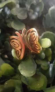 Butterfly Stainless Ring Size 6