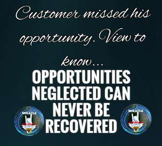 Opportunity had been missed by my customer.. View the posted ads to know more...