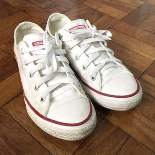Converse All Star Kids' White Shoes (Size 2)