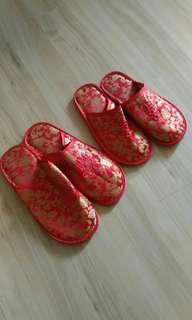 結婚繡花拖鞋2對