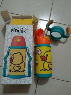 Yellow duck thermos water bottle
