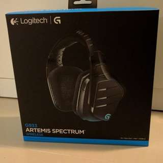 全新 Logitech G933 Artemis Spectrum 無線7.1 環繞音效遊戲耳機麥克風