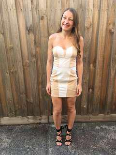 Nude cocktail bandage dress - HIRE